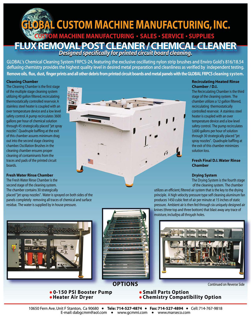Flux Removal Post Cleaner Chemical Printed Circuit Board Cleaning Machine