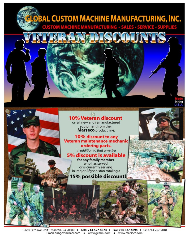 military and veterans' discounts
